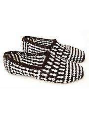 Black & White Graphic Slippers