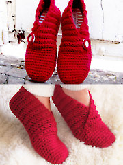 Red Rib Basic Slippers