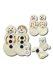 Snowman Family Ornament Sewing Kit