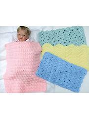 Car Seat Baby Blankets Crochet Pattern