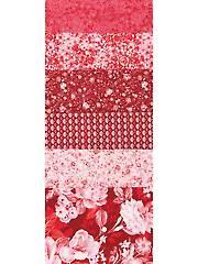 Pink Roses 1/2-Yard Cuts - 6/Pkg.