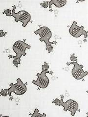 Double Gauze Elephants 1 1/2-Yard Cut