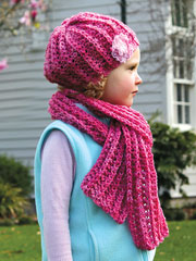 Ribbing & Lace Hat & Scarf