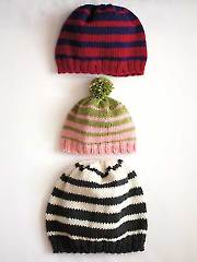 Family of Hats Knit Pattern