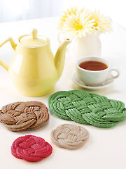 Knotted Coasters & Trivets Knit Pattern