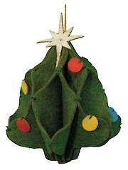 3-D Christmas Tree Ornament Sewing Kit