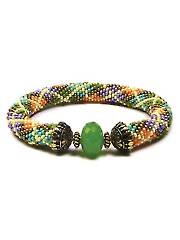 Argyle Bead Crochet Bracelet Kit