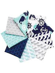 Nautical Treasure Fat Quarters - 9/Pkg.