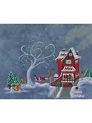 Santa's House Cross Stitch Pattern