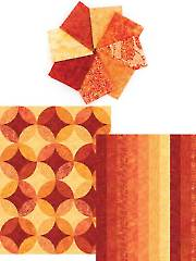 Ambience Tahitian Sun Roll - 8 Fat Quarters & 2 (1/2)-Yard Cuts