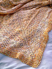 Honey Baby Shawl Knit Pattern