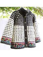 Fair Isle Cardigan for Kids Crochet Pattern