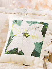Poinsettia Pillow Cross Stitch Pattern