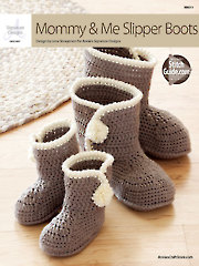 Mommy & Me Slipper Boots Crochet Pattern Annie's Signature Designs