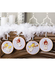 Angel Ornaments Cross Stitch Pattern