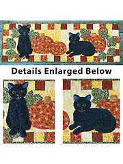 Pumpkin Patch Kitties Table Runner Pattern