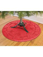 Reindeer Run Christmas Tree Mat