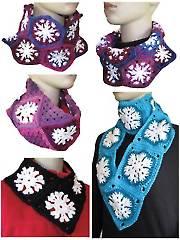 Snowflake Cowls Crochet Pattern