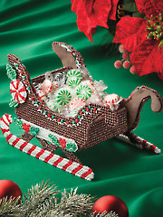 Peppermint Sleigh Plastic Canvas Pattern