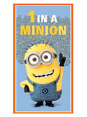 "1 in a Minion� Dusty Blue Panel - 24"" x 42"""