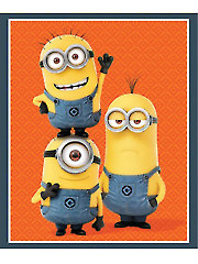 "Minion� Trio Orange Panel - 36"" x 42"""