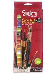 Studio 71 Watercolor Paint Set - 12/Pc.