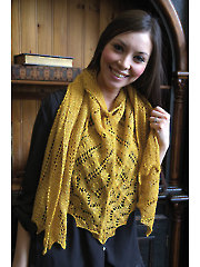 Paneled Shawl Knit Pattern
