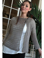 Women's Asymmetrical Cardi Knit Pattern