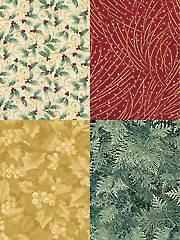 Chickadee & Berries Christmas Star Fabric Pack