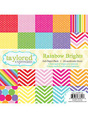 Rainbow Brights 6x6 Paper Pack