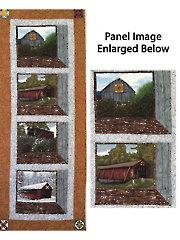 Quilt Barns & Bridges Attic Windows Banner Quilt Kit