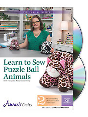 Learn to Sew Puzzle Ball Animals Class DVD