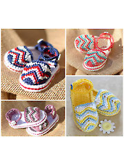 Chasing Chevrons Baby Sandals Crochet Pattern