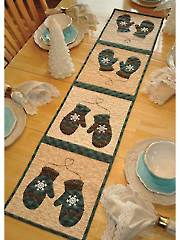 Vintage January Table Runner Pattern