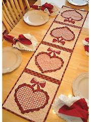 Vintage Blessings February Table Runner Pattern