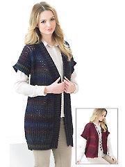 Marble DK Long Knit Waistcoats