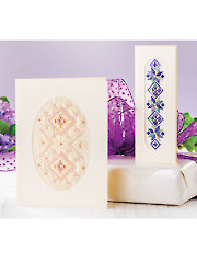 Hardanger Card Duo Pattern