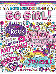 Notebook Doodles Go Girl Coloring Book