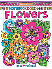 Notebook Doodles Flowers Coloring Book