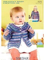 Sirdar Snuggly Baby Crofter DK 4575: Round Neck Cardigan
