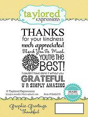 Thankful Graphic Greeting Stamp