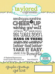 Get Well Graphic Greeting Stamp