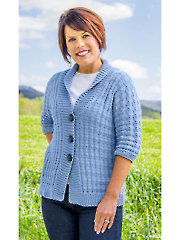 Tweed Rib Cardigan Knit Pattern