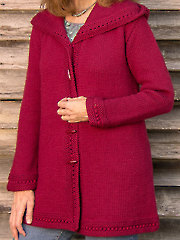 Boston Top-Down Hooded Coat Knit Pattern