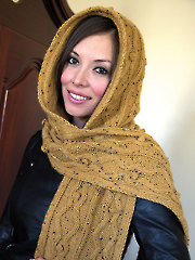 Hooded Scarf Knit Pattern