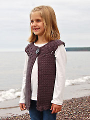 Classic Charm Girls Cardigan Crochet Pattern