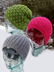 Winter Waves & Knit-Look Beanies Crochet Pattern
