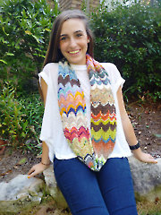 Kaleidoscope Tube Cowl Knit Pattern