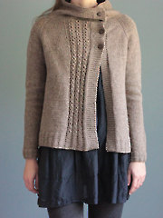 Clouds in my Coffee Cardigan Knit Pattern
