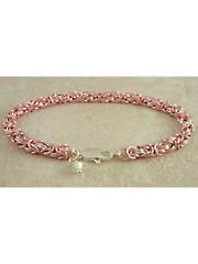 Petite Breast Cancer Awareness Byzantine Bracelet Kit